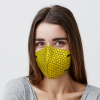 Yellow Graphene Enhanced Face Mask PPE Model