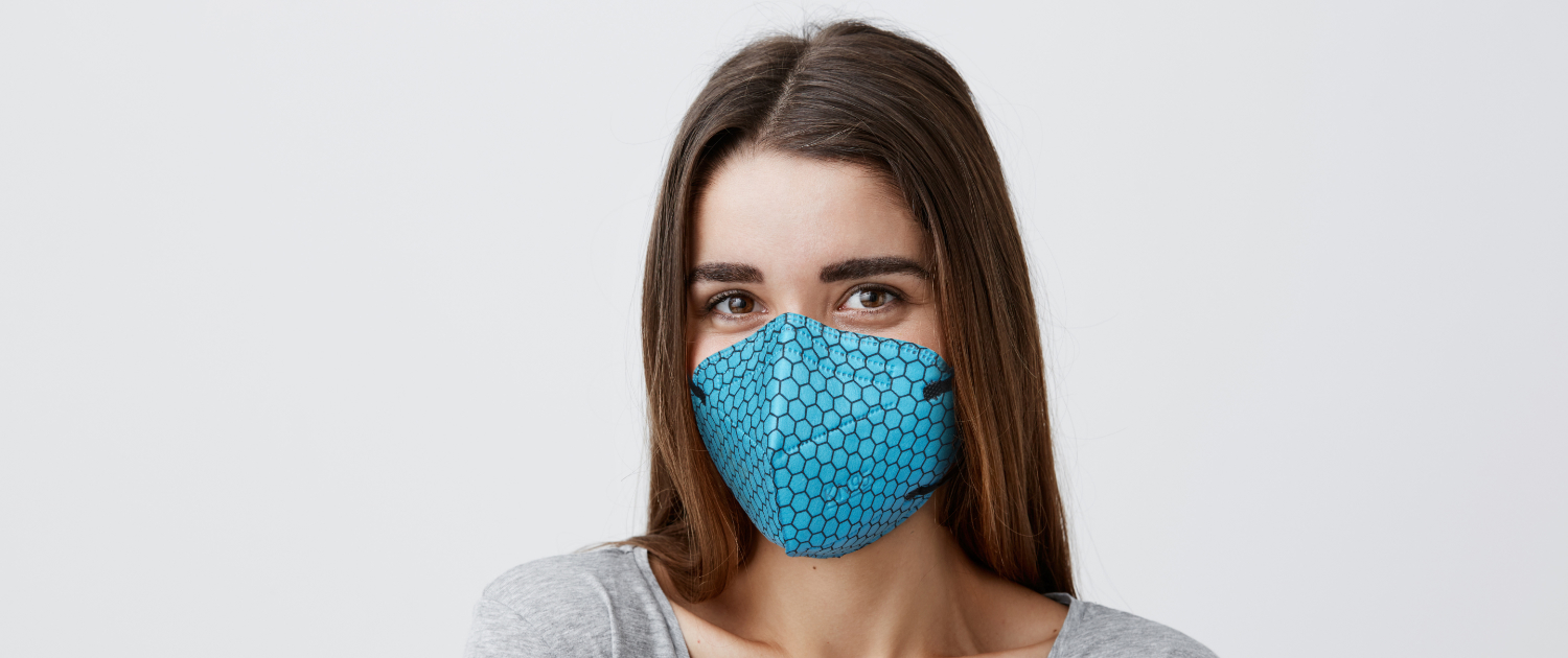 Graphene Enhanced Face Mask in Blue by Versarien PLC