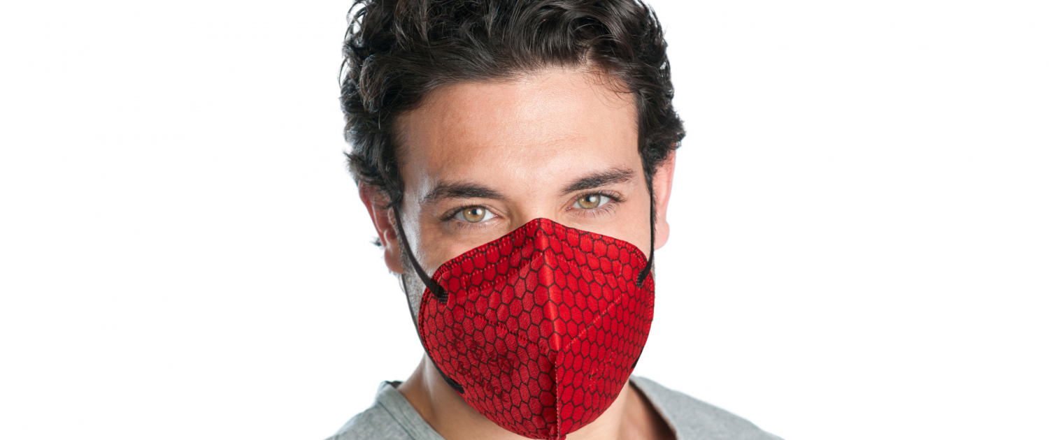 Graphene Enhanced Face Mask in Red by Versarien PLC