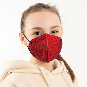 Graphene Face Mask PPE Model CHILDREN'S SIZE in Red